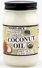 Trader Joe's Organic Virgin Cold-Pressed & Unrefined Coconut Oil 16 OZ Jar New