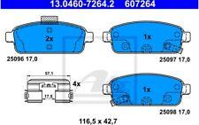 ATE Juego de pastillas freno Trasero para SEAT LEON RENAULT CLIO 13.0460-7264.2