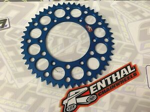 NEW Renthal Rear Sprocket for Husqvarna TE250i 2018 2019 48T 48 tooth BLUE