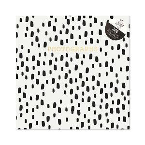 "6""x4"" Slip-in Pockets Holds 200 Photos White Background With Black SpotsDesign"