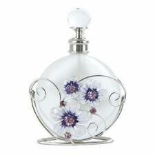 Glass perfume bottle in a metal holder Gift WB561PB
