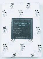 Cynthia Rowley White French Bulldog Two Standard Pillowcases   NEW