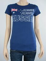 Australia Day Ladies Aussie Aussie Aussie Tee T Shirt Top size 6 10 12 14 16 18