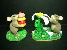TWO SILVESTRI MOUSE FIGURINES - CHARMING TAIL - YOU LOVE ME..YOU LOVE ME NOT