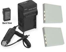 2 8210 Batteries + Charger for Aiptek DZO-V38 DZO-V58 DZO-V58N PVR MPVR+ DV8800