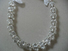 Wedding Bridal Crystal Clear Silver Diamantes Good Luck Charm Horseshoe Keepsake