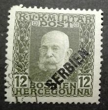 AUSTRIA - OCCUPATION OF SERBIA STAMPS - EMPEROR FRANZ JOSEPH - 12H, 1916, used