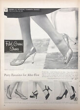 Vintage 1956 Red Cross Womens High Heel Shoes Party Favorites  Print AD