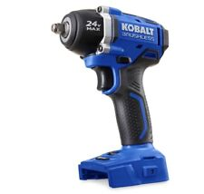 Cordless Impact Wrench 24-Volt Kobalt Max 3/8 -in Drive Brushless (No Battery)