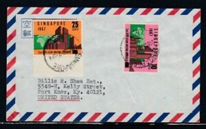 SINGAPORE Commercial Cover Singapore to Fort Knox 24-10-1967 Cancel