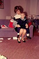 SK13 ORIGINAL KODACHROME 1960s 35MM SLIDE CHRISTMAS FASHION MOTHER HAIR STYLE