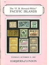 Catalogo d'asta. FB Howard BIANCO isole del Pacifico