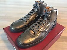 700$ Bally Gray Patent Leather High Tops Sneakers size US 12.5