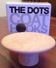 Muuto Dots - 6 x diamètre 9 cm Designer Chêne Portemanteaux Entièrement neuf dans sa boîte