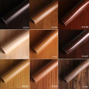 Wood Textured Grain Decal Vinyl Wrap Furniture Film Sticker for 9 Types