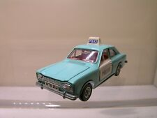 DINKY TOYS UK 270 FORD ESCORT POLICE PANDA CAR TURQUOISE/WHITE NM/M SCALE 1:43