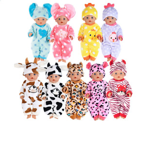 Cute Animal Warm Clothes+hat Fit For born baby 43cm Doll Clothes Doll Accessorie