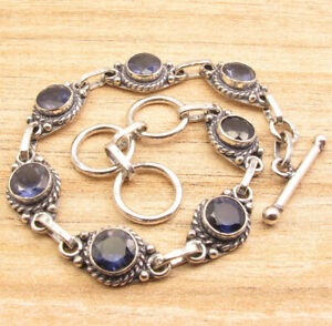 Eye-Catching Silver Plated Iolite MODERNISTIC NEW Bracelet Antique Jewellery