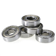 5 Pieces 12mm * 28mm * 8mm 6001ZZ Shielded Deep Groove Radial Ball Bearing Kit