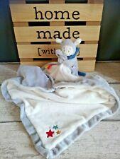 Doudou couverture mouton agneau Guss et Victor gris blanc bleu étoiles Noukie's