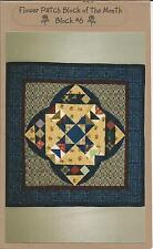JOINED AT THE HIP FLOWER PATCH BLOCK OF THE MONTH BLOCK #6 QUILT PATTERN