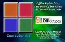 Office 2003, 2007, 2010, 2013, 2016 Updates Patch Disks 3 Total - DVD Dual Layer