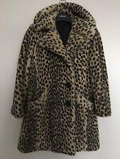 Nueva BNWOT icónico Topshop Leopardo Impresión De Piel Sintética Abrigo Chaqueta Alexa Chung Reino Unido 6