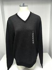 Calvin Klein Men's Italian Yarn Merino Wool Blend V-Neck Sweater, Size Medium