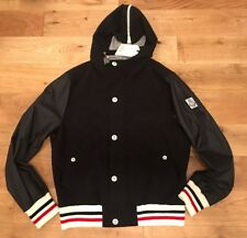 Moncler Gamme Blau Navy With Striped Trim Lightweight Jacket Size 3
