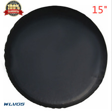 "15""trailer Spare tire tyre Wheel Cover Pure black Heavy Duty Vinyl Material S08"