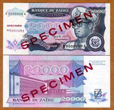 SPECIMEN, Zaire, 20000 (20,000) Zaires 1991, P-39s (39) UNC