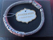 Annika Witt Bali Sterling Silver Filigree ID Bracelet, NEW w Tag