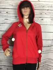 Red Hoodie w/ Fox, Leaf and Star Wings Patches Flirtitude Junior Medium