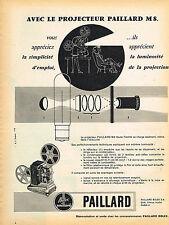 PUBLICITE ADVERTISING 025  1958  PAILLARD   projecteur M8