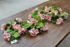 $34.99 New Hydrangea Floral Garland Swag Market Peach Leaves Faux Artificial NWT