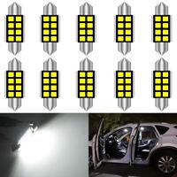 10X Blanc Voiture Interieur Dome C5W SMD 8 LED feston Ampoule Lampe 12v 24v 36mm