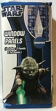 "New Disney Star Wars Microfiber Window Panels 2 Panels & Tie Backs 42x63"" Fabric"