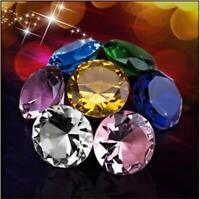 100mm/4'' Home Office Decor Wedding Decoration Glass Diamond Shaped Paperweight