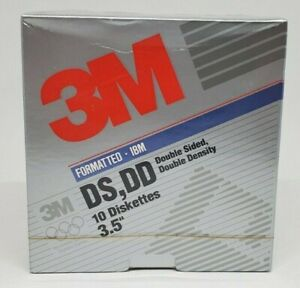 "*NEW* Vintage - 3M 3.5"" IBM Formatted - Double Density DS, DD Diskettes"