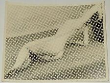 VINTAGE 1950s NUDE PINUP MODEL PHOTOGRAPH ORIGINAL 8x10 CHAIN LINK PHOTOGRAM
