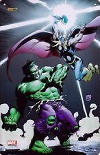 Plaque Métal BD - Marvel - Thor & Hulk - Eds. Panini Comics - 2017 - HC - Neuf !