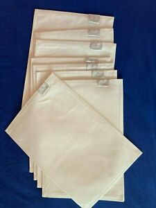 8 Waterford Pearl White Patterned Placemats NEW OTHER never used $90 MRSP