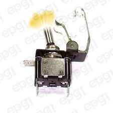 TOGGLE SWITCH AMBER ILLUMINATED ON/OFF SPST 3P w/TRANSPARENT COVER#662053/665016