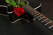 BEAUTIFUL GUITAR ROSE CANVAS PICTURE #16 STUNNING FLORAL HOME DECOR A1 CANVAS