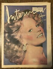 Andy Warhol's Interview Magazine April 1977 Carroll Baker Cover