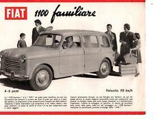 Fiat 1100 Familiare 4 6 Posti Italian Language Brochure Prospekt Leaflet