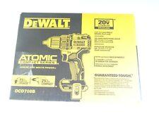 "New Dewalt DCD708B 20V Max 1/2"" Atomic Compact Brushless Drill Driver"