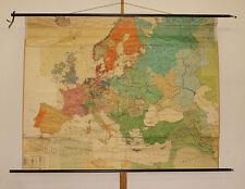 Schulwandkarte Europakarte Barock 17century 187x146cm~1960 Ludwig XIV 30j Krieg