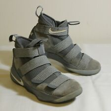 Nike Lebron Soldier XI Cool Grey-Pure Platinum 897644-010 Basketball Shoes  8.5