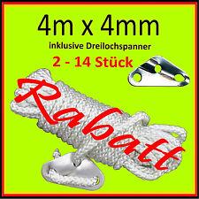 ⭐️💯 2-10 Zeltleine 4m lang Ø4mm mit Spanner Zeltschnur Abspannseil Abspannleine